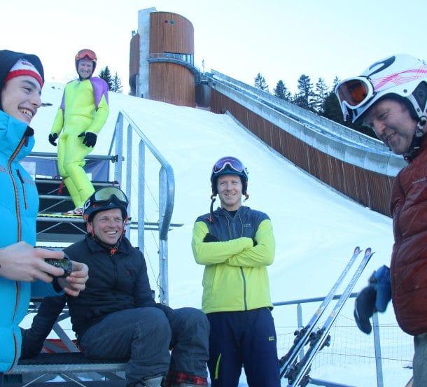 Un blog photo de notre équipe apprenant à sauter à ski avec Eddie The Eagle à Courchevel 2