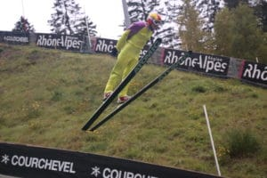 Eddie The Eagle Ski Jumps Whilst Staying In One Of Luxury Ski Chalet In Courchevel Le Praz 2