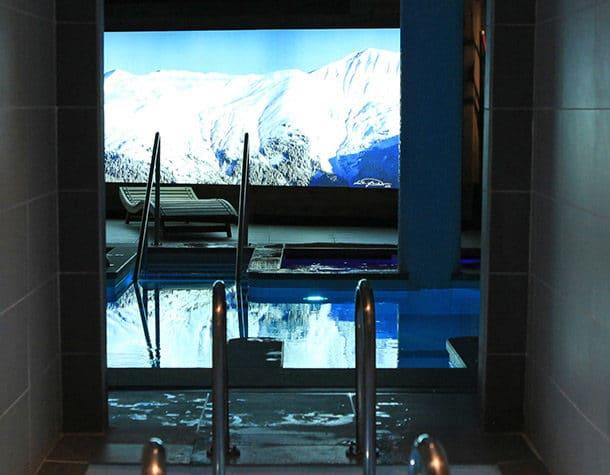 Un Spa dans un chalet de ski de luxe à Courchevel