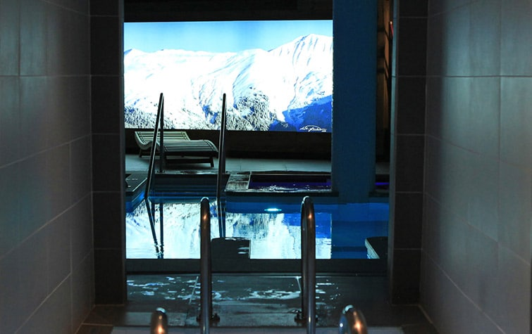 A Spa In One Of Luxury Ski Chalet In Courchevel