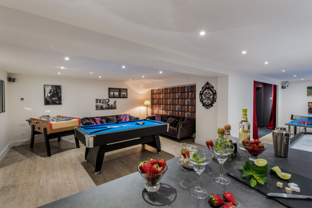 The Games Room With Pool In Luxury Ski Chalet Aster In Courchevel 1650