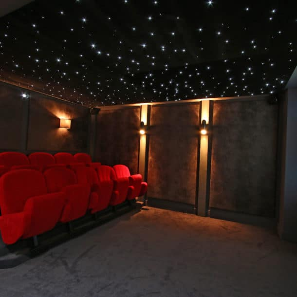 The Cinema In Luxury Ski Chalet Aster In Courchevel 1650