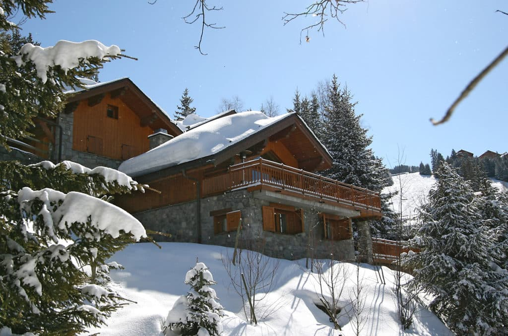 Rear Exterior View Of Luxury Ski Chalet Bartavelles In Meribel