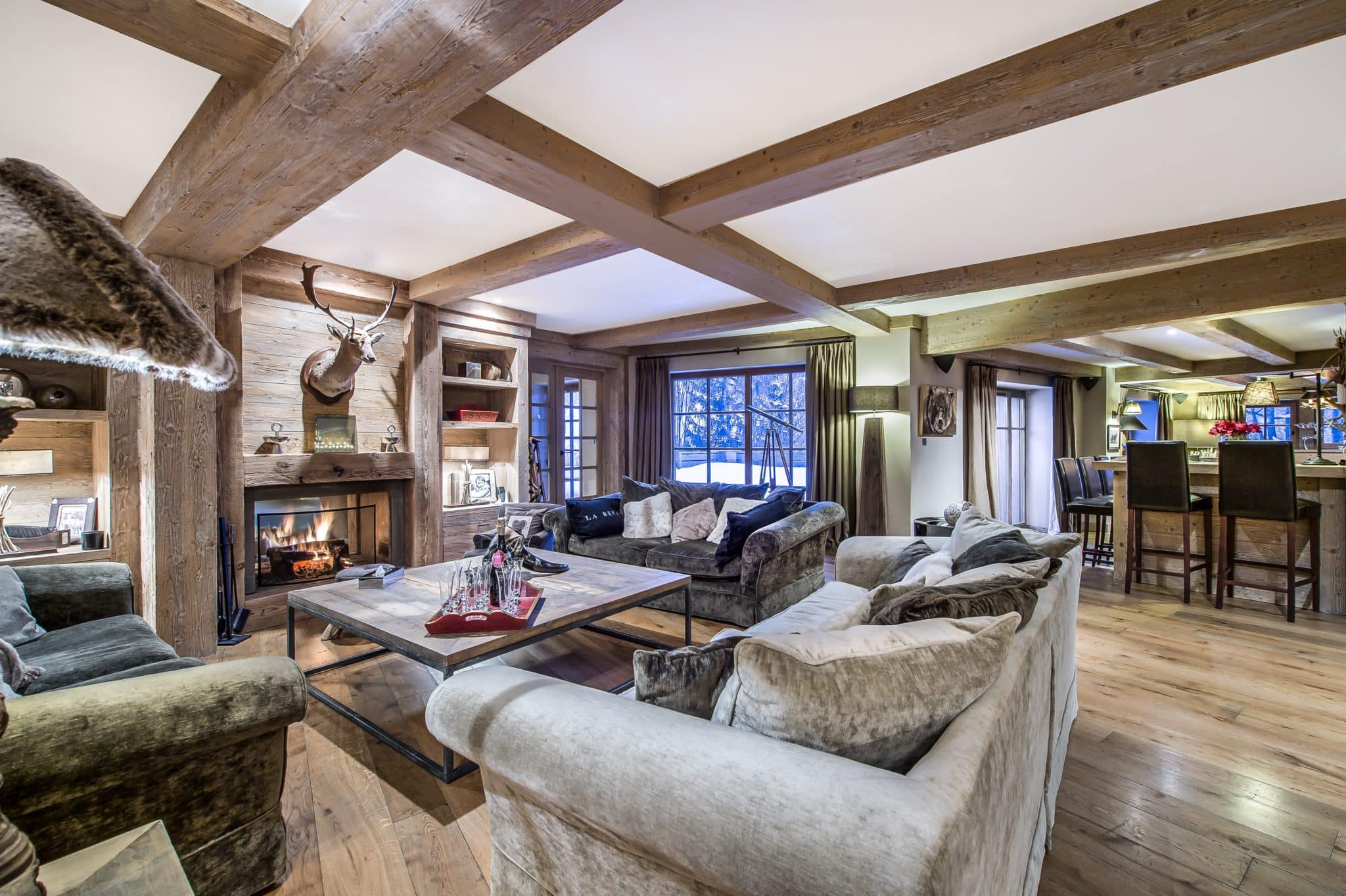 Sitting Room 4 Luxury Ski Chalet Cristal Lodge Meribel