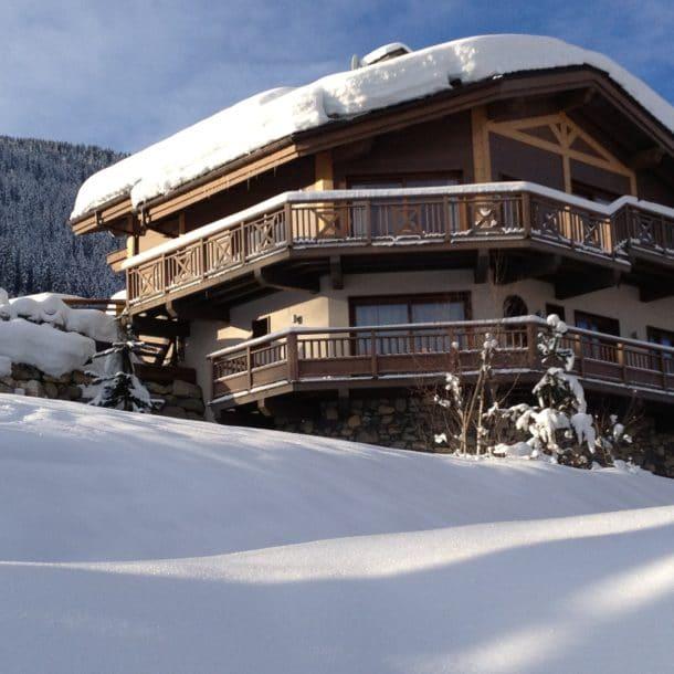 Роскошное лыжное шале Igloo Courchevel, вид снаружи