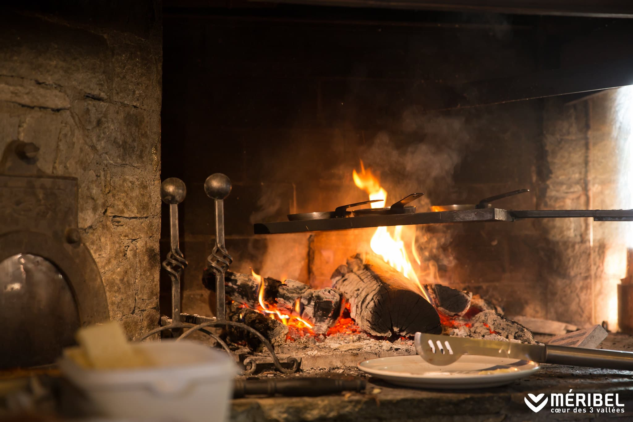 Roaring Fire In Our Luxury Chalets In Meribel And Courchevel