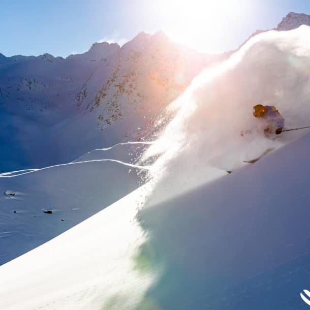 Skiing Powder In Meribel And Courchevel