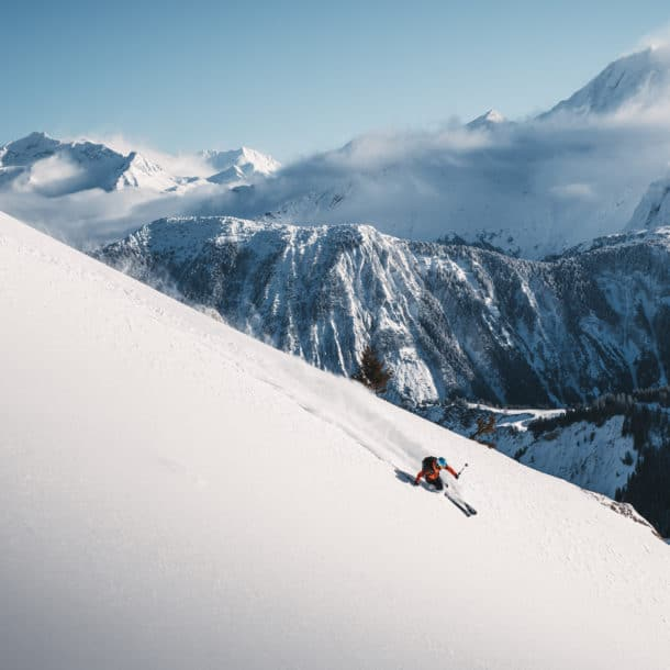 Ski poudreuse à Courchevel depuis nos chalets de luxe